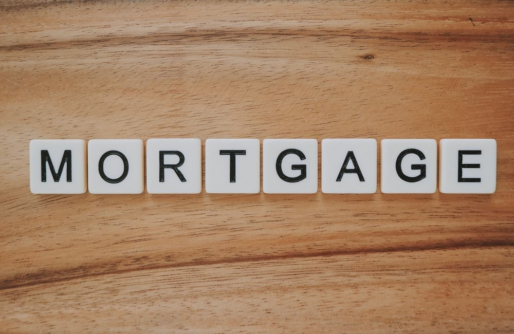 A Wooden Board with the letters Mortgage