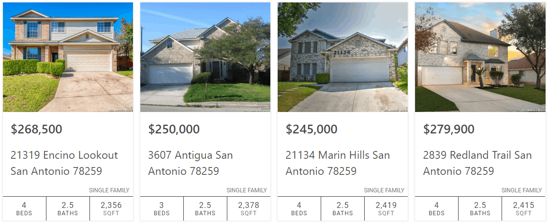 Listings - Houses for sale in San Antonio, TX